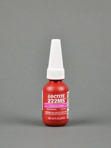 Henkel Loctite 222MS Threadlocker Anaerobic Adhesive Purple 10 mL Bottle