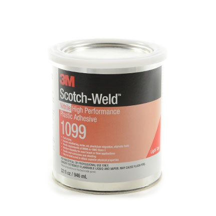 3M 1099 Nitrile High Performance Plastic Adhesive Tan 1 qt Can
