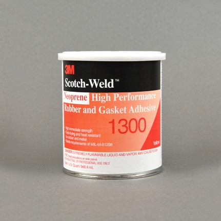 3M 1300 Neoprene High Performance Rubber and Gasket Adhesive Yellow 1 qt Can