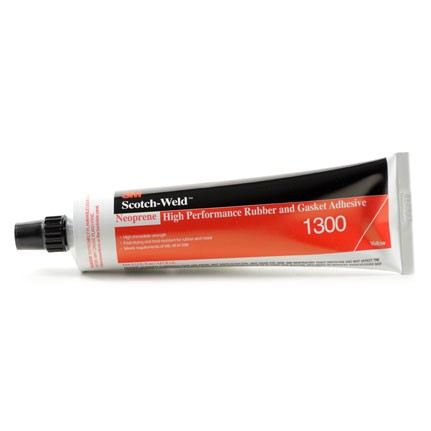 3M 1300 Neoprene High Performance Rubber and Gasket Adhesive Yellow 5 oz Tube
