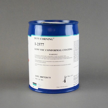 Dow Corning 1-2577 Low VOC RTV Silicone Conformal Coating Clear 3.4 kg Pail