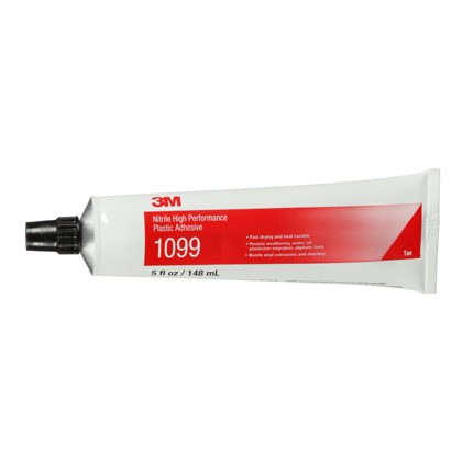 3M 1099 Nitrile High Performance Plastic Adhesive Tan 5 oz Tube