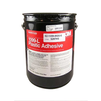 3M 1099L Nitrile High Performance Plastic Adhesive Tan 5 gal Pail