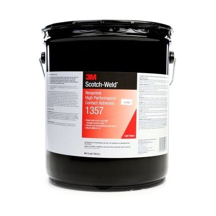 3M 1357 Neoprene High Performance Contact Adhesive Light Yellow 5 gal Pail