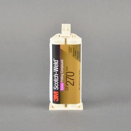 3M Scotch-Weld DP270 Epoxy Potting Compound Clear 1.7 oz Duo-Pak Cartridge